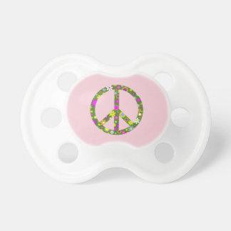 Blumenfriedenszeichen-Baby-Säuglings-Schnuller Schnuller