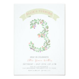 Blumengarten-laden 3. Geburtstags-Party ein Karte