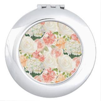 BlumenGastgeschenk Hochzeitsspiegel der eleganten Taschenspiegel