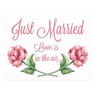 Blumengerade verheiratete postkarte