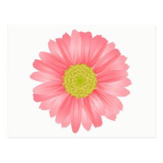 Blumengerbera-Gänseblümchen-rosa u. gelbe Blume Postkarte