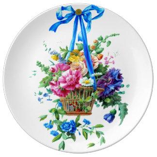 Blumengesteck Aquarell-romantische Platte Teller