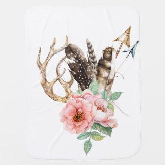 Blumengeweih-Baby-Decke Babydecke