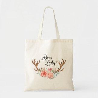 Blumengeweih-Taschen-Tasche Budget Stoffbeutel
