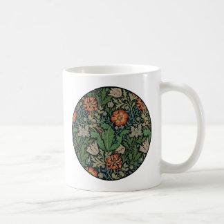 Blumengrafik-Vintage Tapete Williams Morris Kaffeetasse