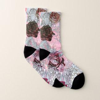 Blumenherz-Muster Socken