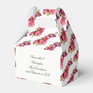 Blumenhochzeitsblumenstrauß der rosa Rose Geschenkschachtel