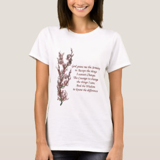 BlumenInspirational Serenity-Gebet T-Shirt
