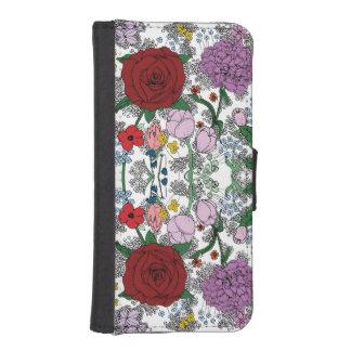 BlumeniPhone 5/5s Geldbörse/Fall iPhone SE/5/5s Geldbeutel Hülle