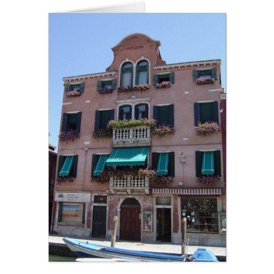Blumenkasten-leere Karte Venedigs Italien