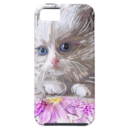 Blumenkatze - Meow Etui Fürs iPhone 5