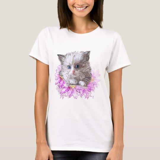 Blumenkatze - Meow T-Shirt