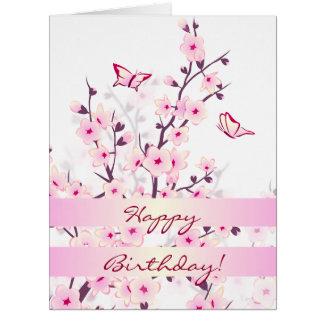 Blumenkirschblüten-alles Gute zum Geburtstag Karte