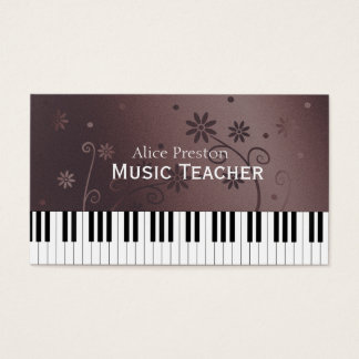 Blumenklavier des Musik-Lehrer-| Visitenkarte