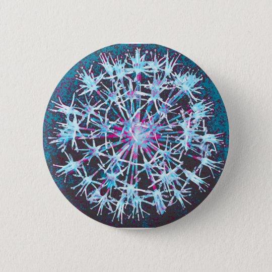 Blumenknopf-Abzeichen Runder Button 5,7 Cm