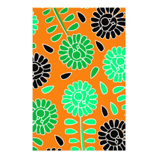 Blumenkontrastorange Briefpapier