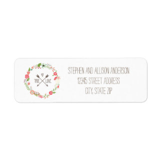 BlumenKranz - Adressen-Etiketten Rückversand-Adressaufkleber