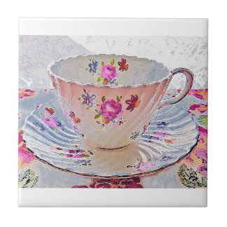Blumenkunst-Blumenstrauß-Vintage Keramikfliese