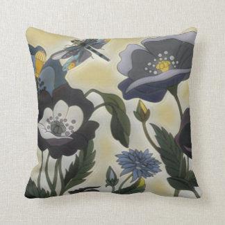 Blumenlibellen-Wurfs-Kissen Kissen