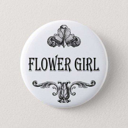 Blumenmädchenknopf Runder Button 5,1 Cm