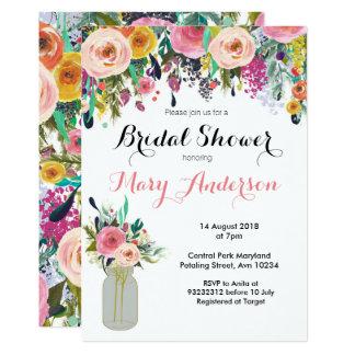 Blumenmaurer-Glas-Brautparty-Einladungen Karte