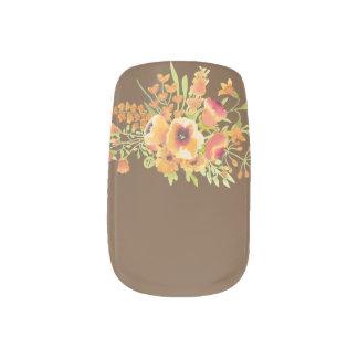 Blumenminx-Nagel-Kunst, Single-Entwurf pro Hand Minx Nagelkunst