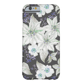 Blumenmuster der weißen Lilien - Blumenmuster Barely There iPhone 6 Hülle