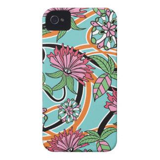 Blumenmuster des glücklichen Sommers Case-Mate iPhone 4 Hülle