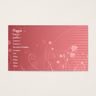 Blumenmuster Visitenkarten