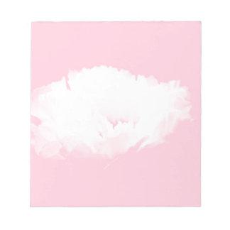 Blumennotizblock muster der weichen rosa weißen notizblock