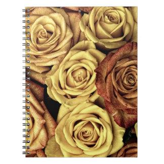 Blumennotizbuch Spiral Notizblock