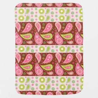 Blumenpaisley-Platten Baby-Decken