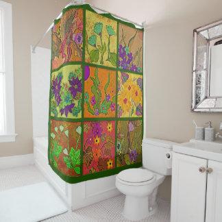 BlumenPatchworkDuschvorhang Duschvorhang