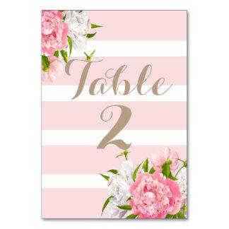 BlumenPeonie Tischnummer kardiert Hochzeiten