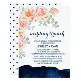Blumenpfirsich-und 12,7 X 17,8 Cm Einladungskarte