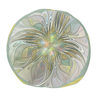 Blumenphantasie-moderne Fraktal-Kunst-Blume mit Hocker