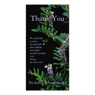 Blumenphotographie des Indigo-3 - Beileid danken Fotogrußkarten