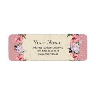 BlumenRücksendeadresseaufkleber