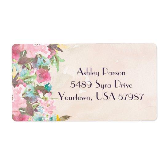 BlumenRücksendeadresseaufkleber Großer Adressaufkleber