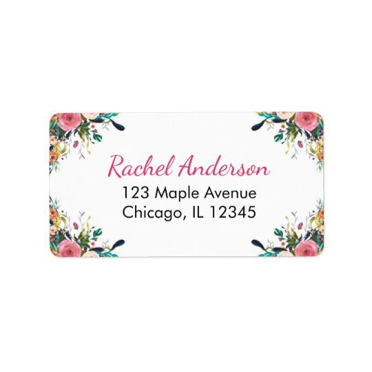 BlumenRücksendeadressen-Aufkleber, Adress Aufkleber