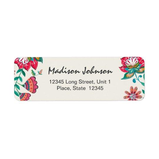 BlumenRücksendeadressen-Aufkleber   Brautparty-  Kleiner Adressaufkleber