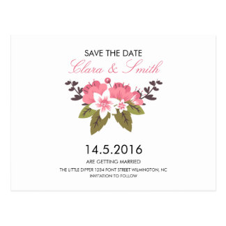 BlumenSave the Date Karte