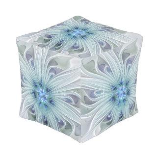 Blumenschönheits-abstrakte moderne blaue hocker
