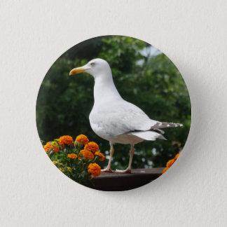 Blumenseemöwe-Knopf Runder Button 5,7 Cm