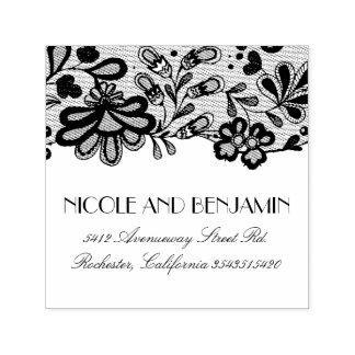 Blumenspitze-elegante Hochzeit Permastempel