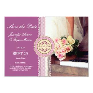 Blumenstrauß der Blumen, der Braut und des 12,7 X 17,8 Cm Einladungskarte