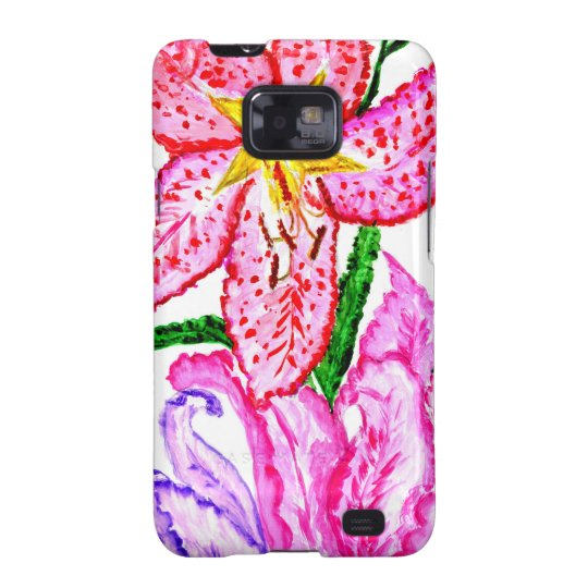 Blumenstrauß der Lilien-Blumen Samsung Galaxy SII Hüllen
