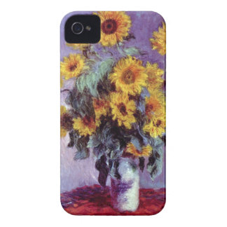 Blumenstrauß der Sonnenblumen durch Claude Monet, iPhone 4 Case-Mate Hülle