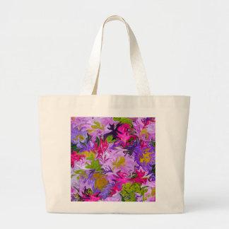 Blumenstrauß Farbdes abstrakten Kunst-mit Jumbo Stoffbeutel