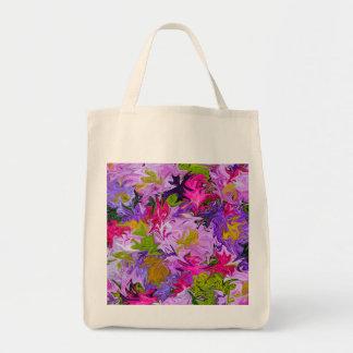 Blumenstrauß Farbdes abstrakten Kunst-mit Tragetasche